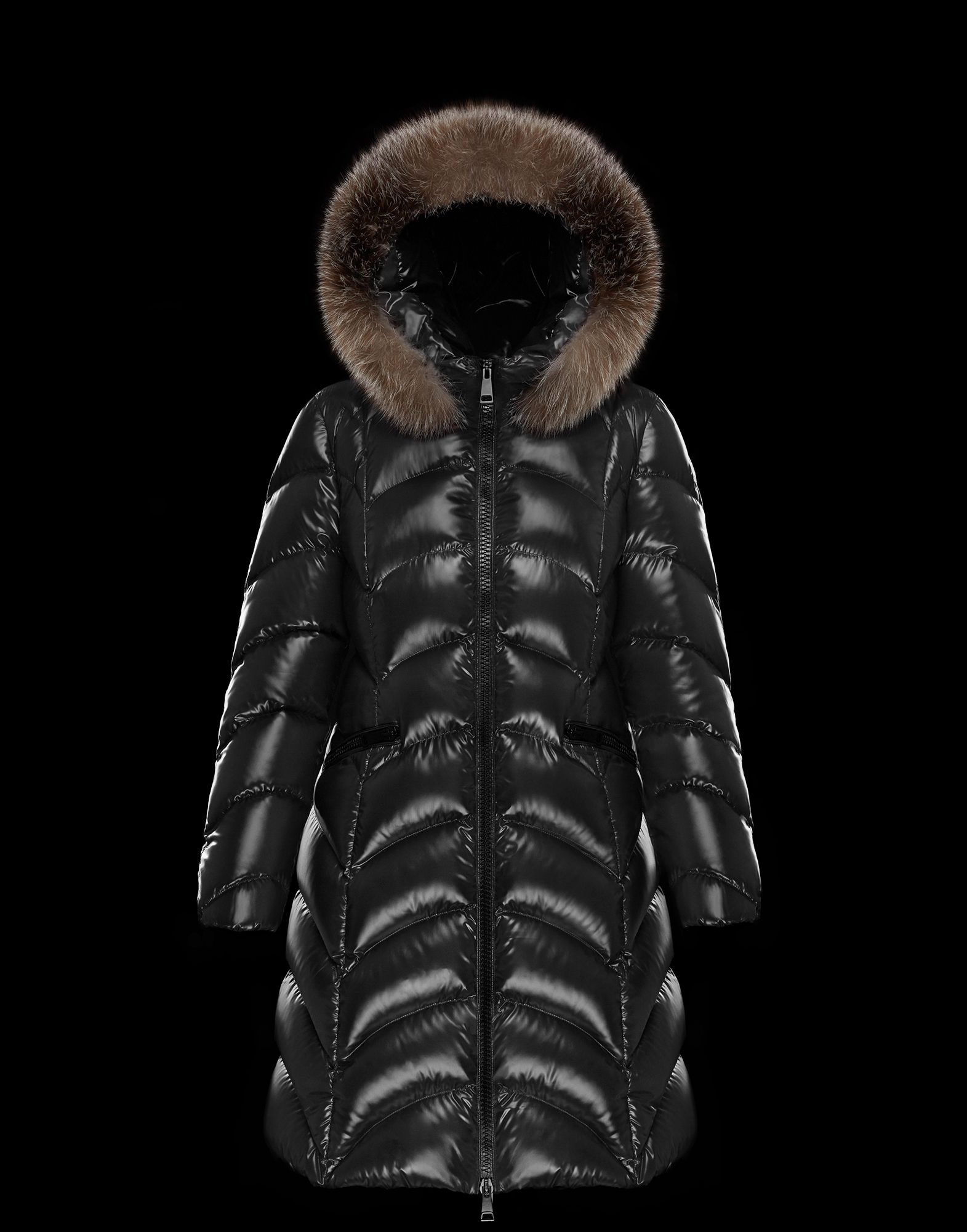 2018 Moncler Albizia Hooded Puffer Jacket Womens Black