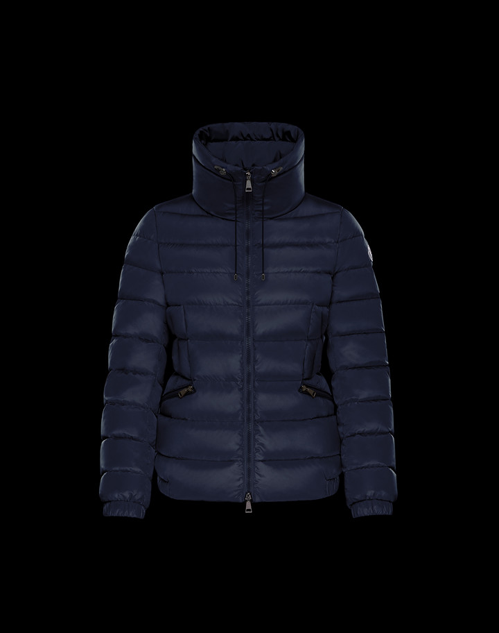 2018 Moncler Irex Quilted Puffer Coat Womens Navy