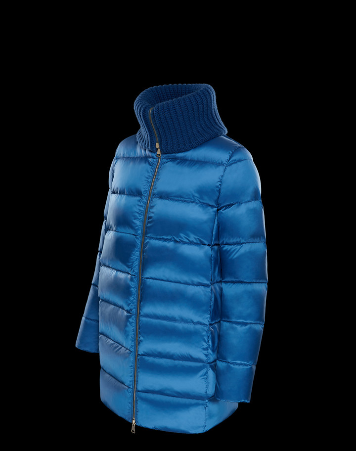2018 Moncler Laburnum Down Womens Jackets Blue